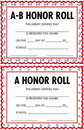 Honor roll certificates Royalty Free Stock Photo