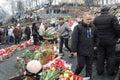 Honor for Ukrainian's heroes. Stock Photography