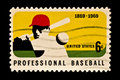 Honoring Major League Baseball Stamp Royalty Free Stock Photography