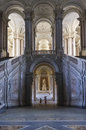 The honour grand staircase caserta italy royal palace projected by italian architect luigi vanvitelli in late Stock Image