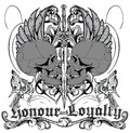 Honour and loyalty illustration of two knights skull vector format Stock Images