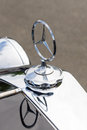 Hood ornament of the luxury car Mercedes-Benz Typ 290 (W18) Royalty Free Stock Photo
