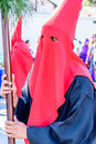 Hooded man in Lent procession, Antigua, Guatemala