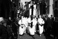 The hooded procession holy easter of white at sarno in italy Stock Photography