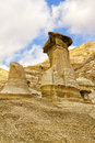 Hoodoos drumheller valley rock formation also known as in the alberta canada Royalty Free Stock Photography