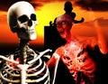 Hoofd 9 van de zombie en van de Schedel Royalty-vrije Stock Foto