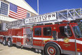 Hook and ladder fire engine Stock Image