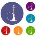 Hookah icons set