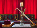 Hookah room with a hookah. Royalty Free Stock Image