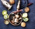 Hookah shisha with kiwi Royalty Free Stock Photo