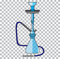 Hookah tobacco arabic tube and relaxation turkish hookah traditional symbol a transparent background