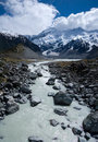 Hooker Valley and Mount Cook Royalty Free Stock Photos