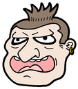 Hooligan face character funny draw of Stock Images