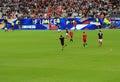 Hooligan at france belgium football match the stade de june Royalty Free Stock Photos