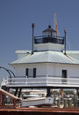 Hooper strait lighthouse beacon in the chesapeake screwpile on display at bay maritime museum st michaels maryland image made june Stock Photos