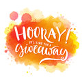 Hooray, it's time for a giveaway. Banner for Royalty Free Stock Photo