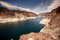 Hoover dam in the black canyon of the colorado river between the us states of arizona and nevada Royalty Free Stock Images