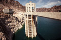 Hoover dam in the black canyon of the colorado river between the us states of arizona and nevada Stock Images