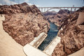 Hoover dam in the black canyon of the colorado river between the us states of arizona and nevada Stock Image