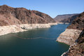 Hoover dam boulder dam usa is a concrete arch gravity in the black canyon of the colorado river on the border between the us Royalty Free Stock Photography