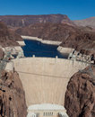Hoover Dam on Colorado river and Lake Meade Royalty Free Stock Photography