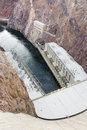 Hoover dam hydroelectric power station usa located on the arizona nevada border Stock Photos