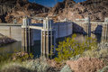 Hoover Dam Intake Towers Stock Photo