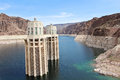 Hoover dam intake towers water at lake mead s Royalty Free Stock Photography