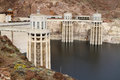 Hoover dam at lake mead in nevada Stock Image