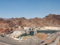 Hoover dam at lake mead in nevada located miles southeast of las vegas it is one of the greatest dams of its day and an arizona Stock Image