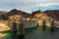 Hoover dam power station view of the complex Royalty Free Stock Images
