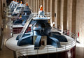 Hoover dam powerhouse generators row Stock Photo