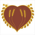 Hop and corn heart design Royalty Free Stock Photography
