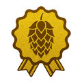 Hop gold brewery beer icon flat web sign symbol logo label Royalty Free Stock Photo