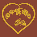Hop heart Royalty Free Stock Photography