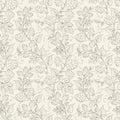 Hop seamless pattern. Royalty Free Stock Photo