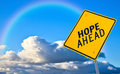 Hope ahead road sign Royalty Free Stock Photo