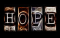 Hope concept in abstract letters Royalty Free Stock Photos