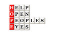 Hope eyes acronym concept of and other releated words Royalty Free Stock Photo