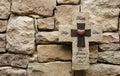 Hope Faith Love Stone Cross Royalty Free Stock Photo