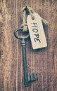 Hope key and label concept Royalty Free Stock Photography