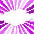 Hope Pink Sunrise Rays Cloud Frame Royalty Free Stock Photo
