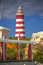 Hope town harboour abaco bahamas lighthouse on elbo cay Stock Image