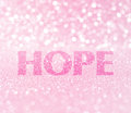 Hope word for breast cancer awareness Royalty Free Stock Photo