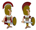 Hoplite warriors cartoon Royalty Free Stock Image