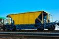 Hopper wagon self unloading for transportation of dry bulk cargoes Royalty Free Stock Image