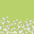 Hops plant graphic green color seamless background sketch illustration