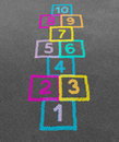 Hopscotch Stock Photo