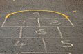 Hopscotch children s game can be played several players alone hopscotch popular playground game which players toss small object Royalty Free Stock Image
