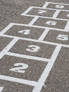 Hopscotch grid in school playground Stock Photography